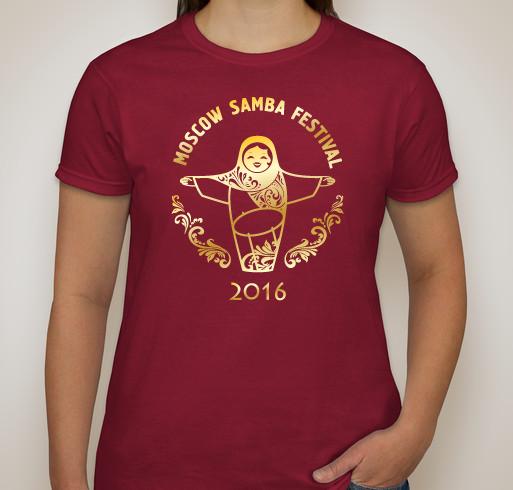 Moscow Samba Festival 2016 футболка вид спереди